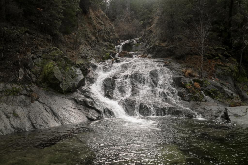 Multiple streams trickling into a river