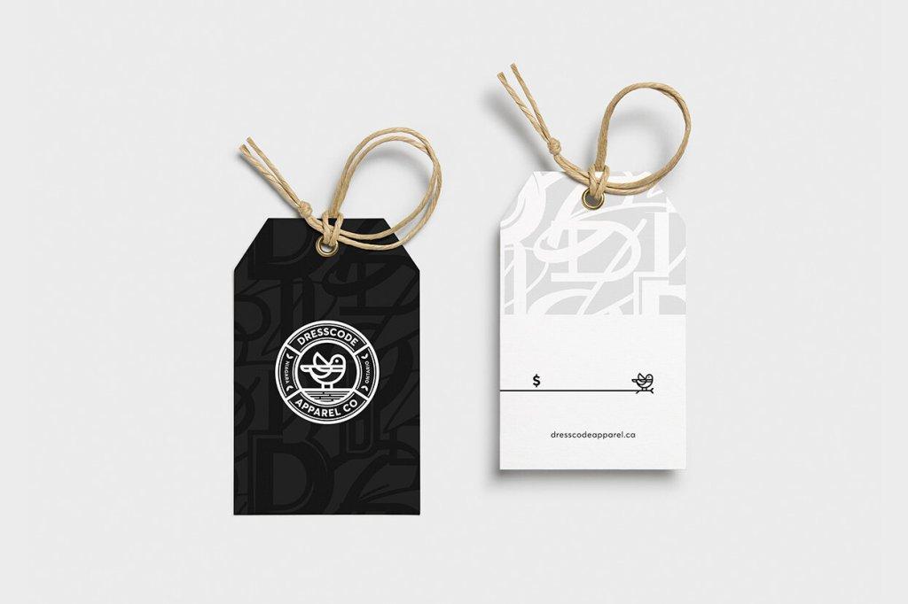 Dresscode apparel co. tag design by Jordan Versluis