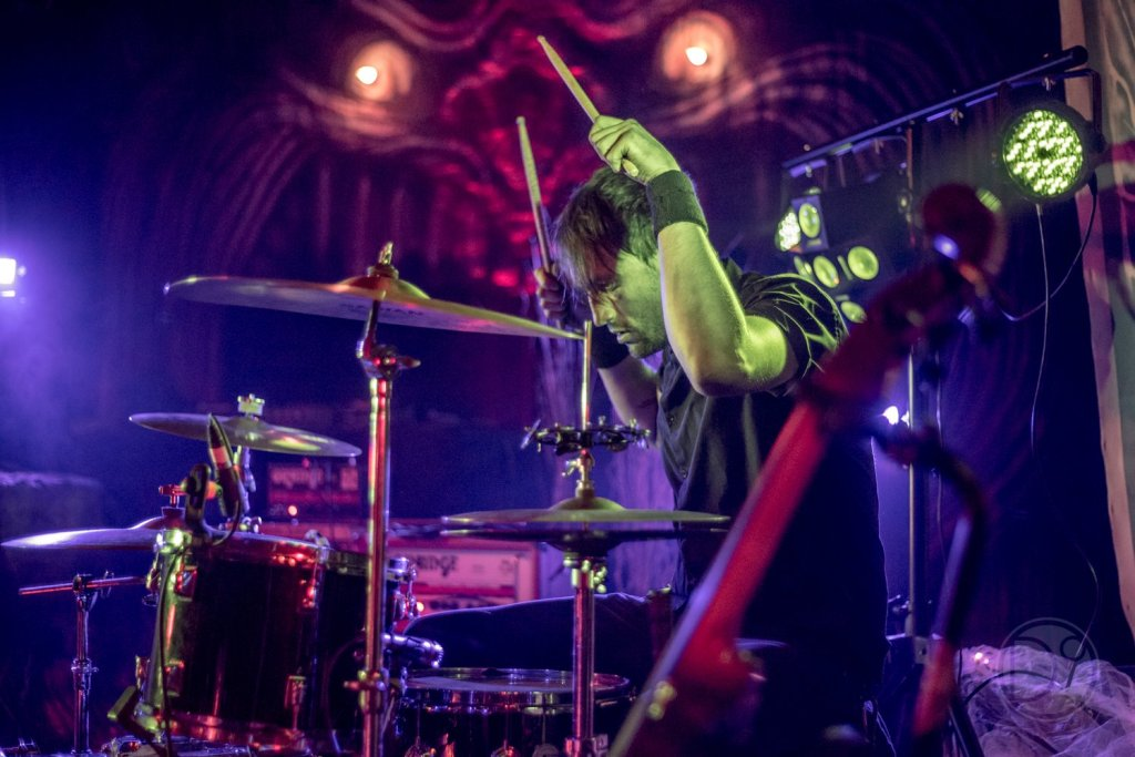 Keith Heppler playing drums